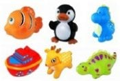 Squirters bath toys