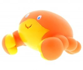 orange crab bath toy