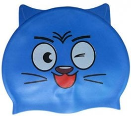 Swim cap - Blue cat wink