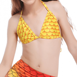 mermaid bikini yellow