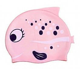 Swim Cap - Pink Fish
