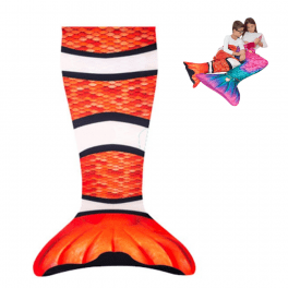 Mermaid blanket clownfish magic