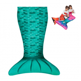 Mermaid blanket turqoise