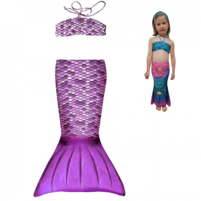 mermaid set toddler purple